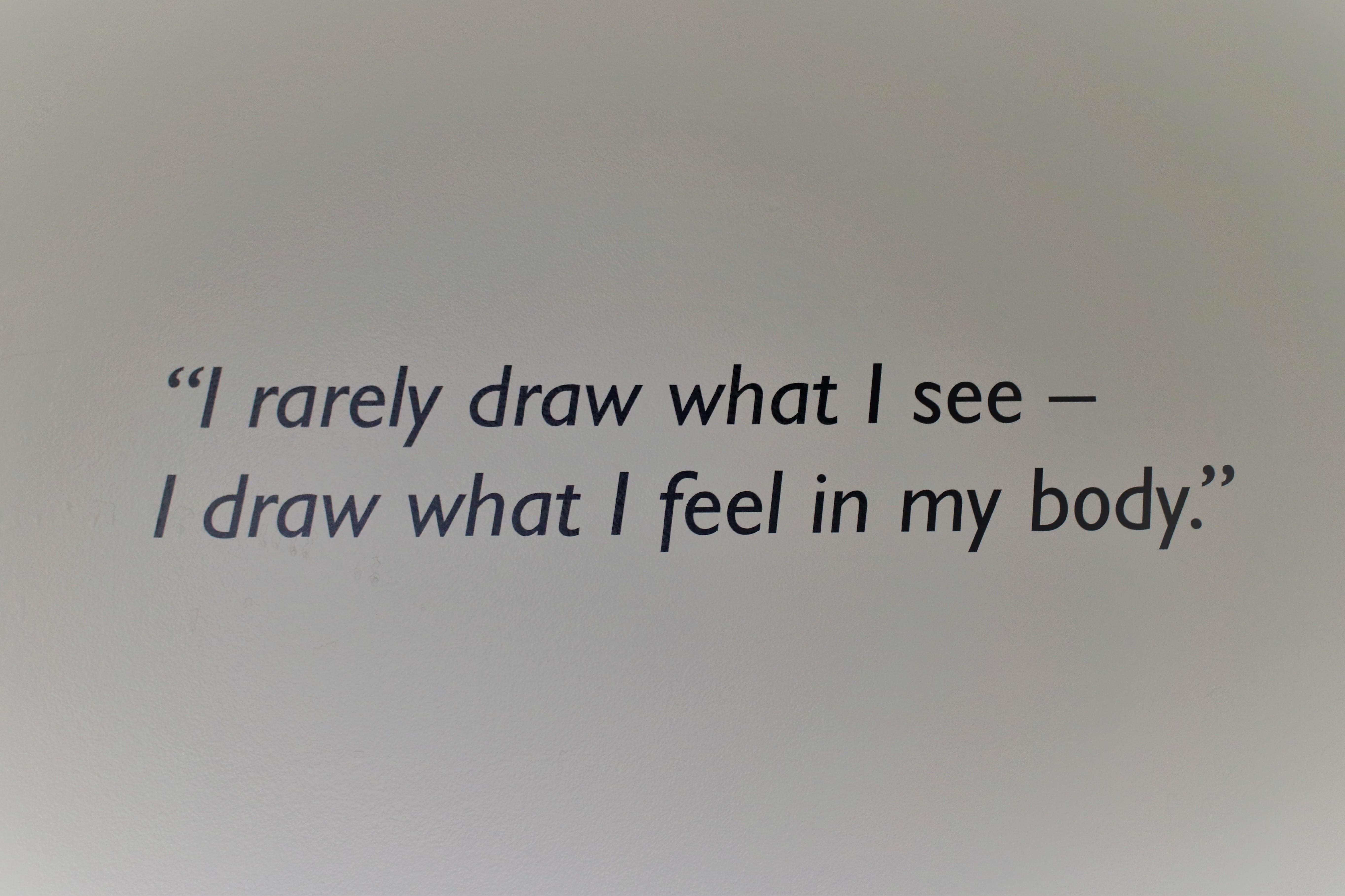Quote from sculpture Barbara Hepworth