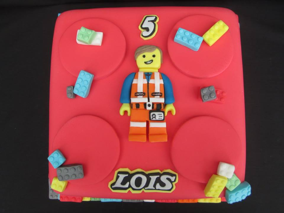 Lego themed birthday party cake