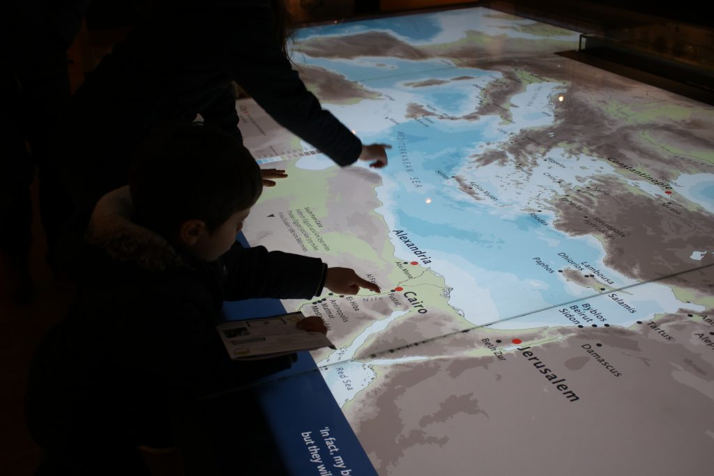 interactive map at the ashmolean museum