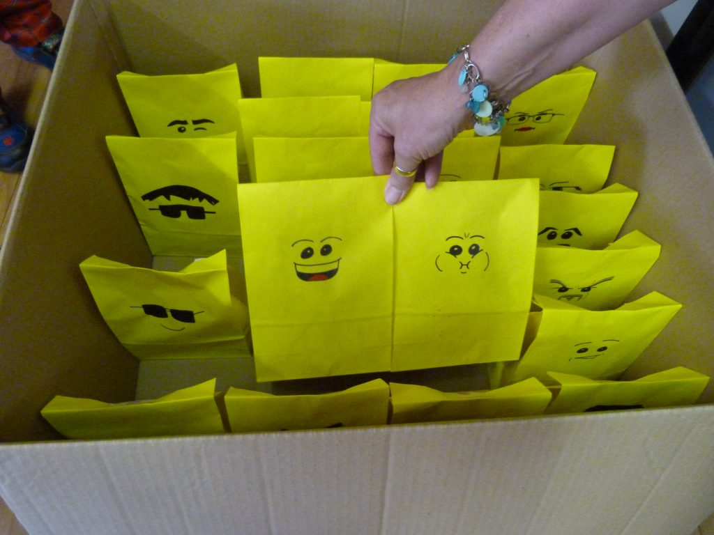 lego minifigure party bags