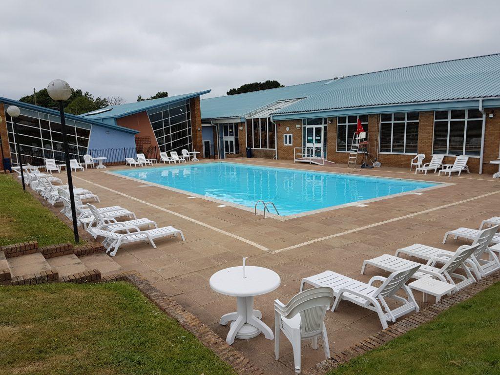 outdoor pool at Hoburne Naish