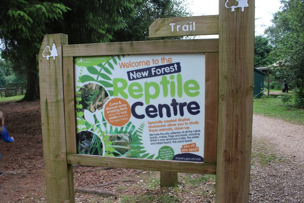 New Forest Reptile Centre sign