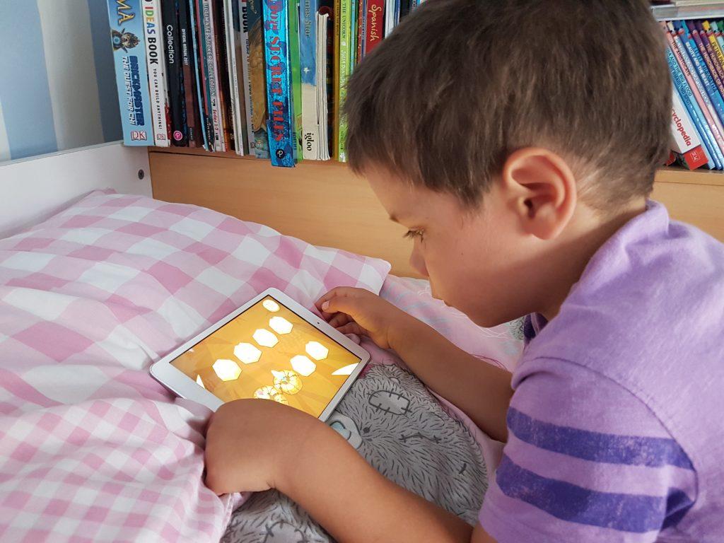 Cody using hopster app