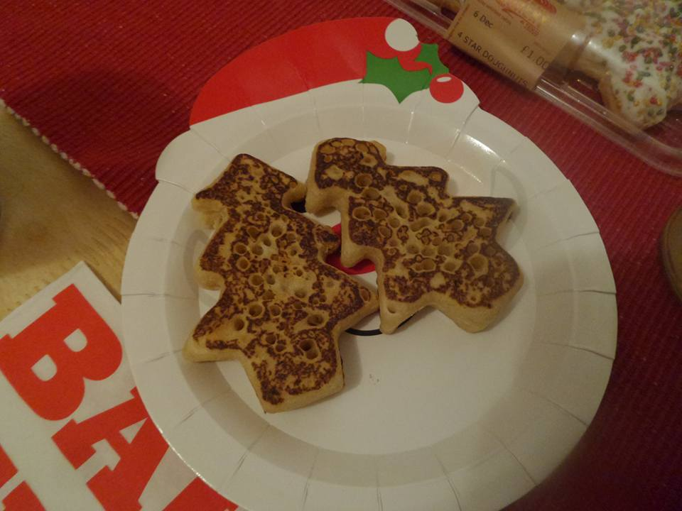 Chrstimas tree shaped crumpets