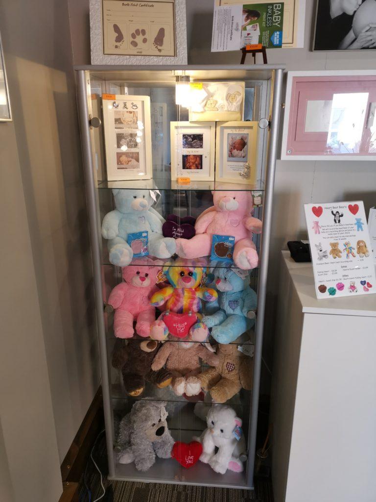 teddy bear display cabinet