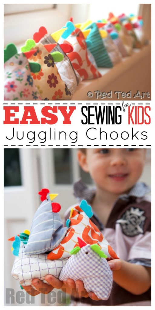 Juggling chooks Easter craft idea