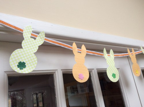 Easter bunny bunting.  Easter craft idea