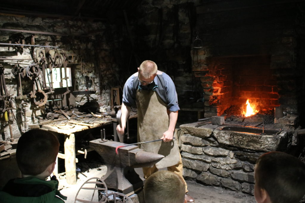 Blacksmith at Ulster American Folk Park