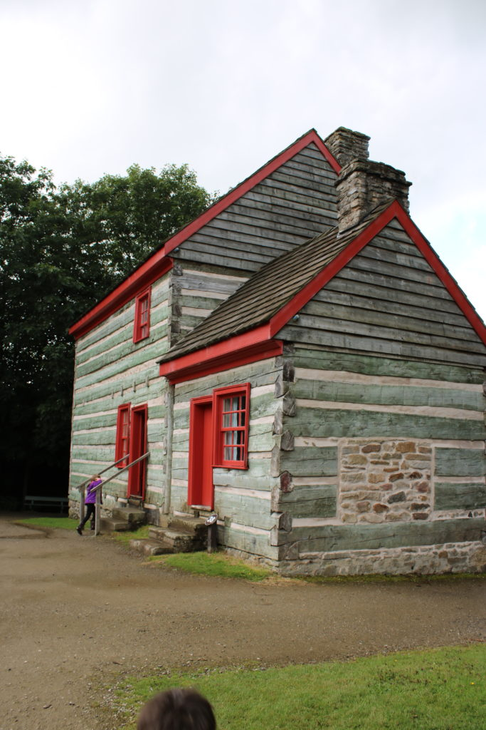 American wooden house at Ulster American Folk Park