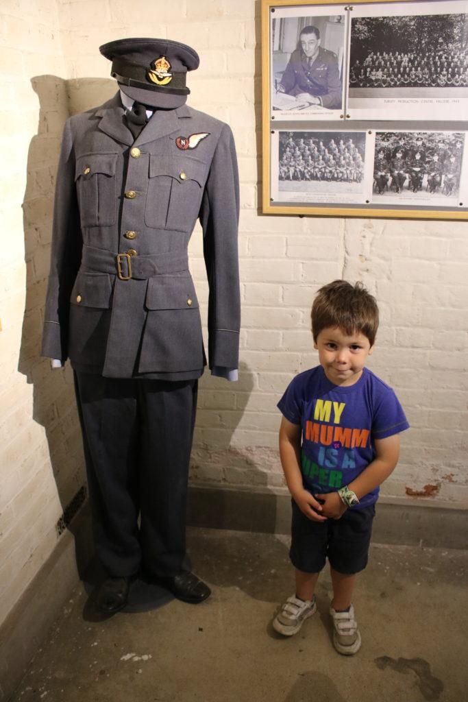 Soldiers uniform in the cellar at Hughenden Manor