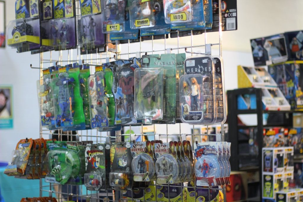 Merchandise and traders stalls at Thames Con