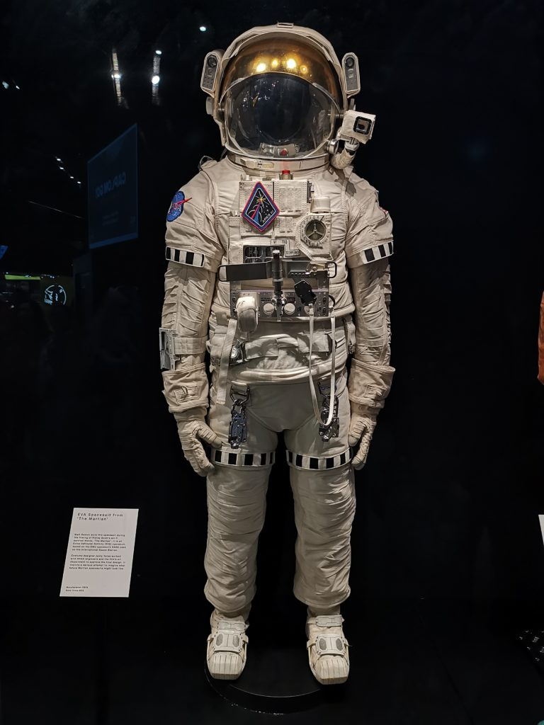 space suit at the national space centre