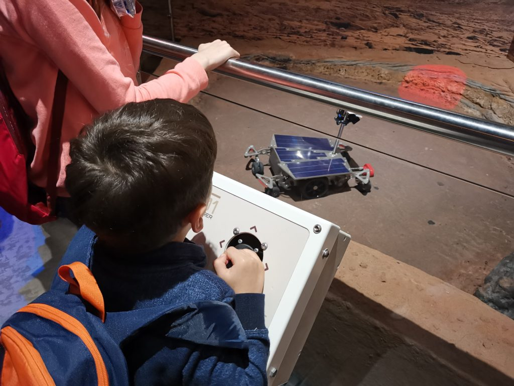 mars rover model at national space centre