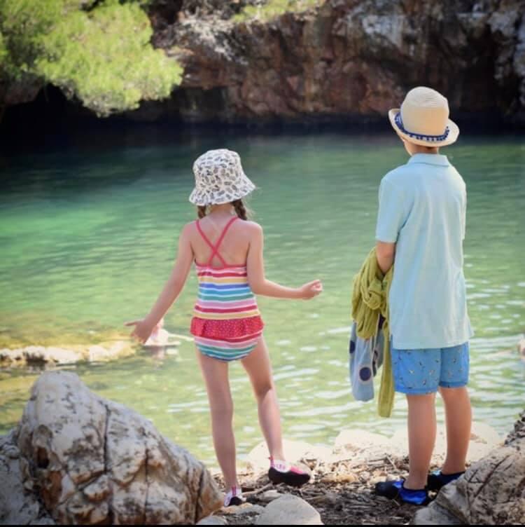 Kids exploring Dubrovnik in Croatia