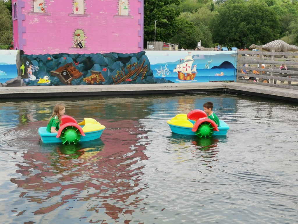 Paddle boats at 4 Kingdoms