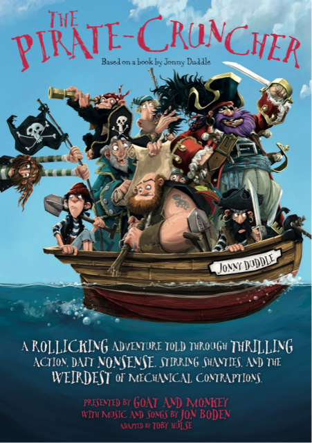 Front page leaflet for The Pirate Cruncher stage show