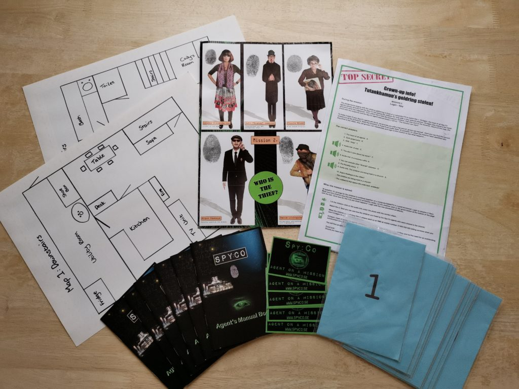 Spy:Co party package bundle including clues, agent manuals, instructions,etc