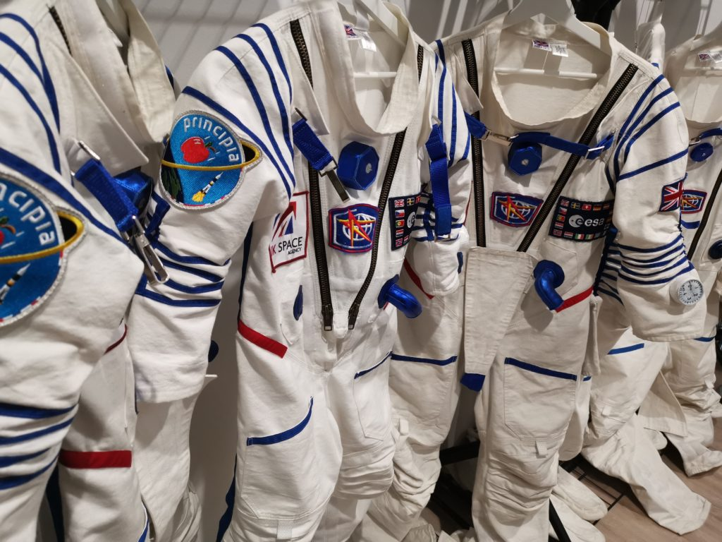 close up of junior space suit in the space store