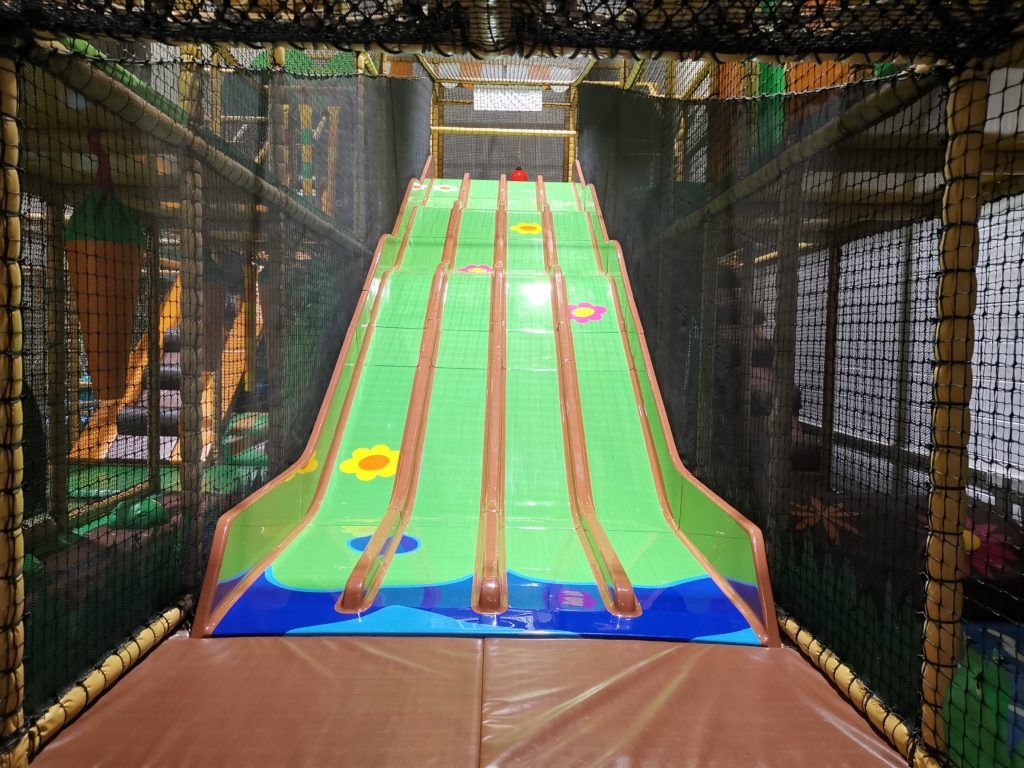 4 lane bumpy slide inside the soft play area at Carterton soft play and trampoline park