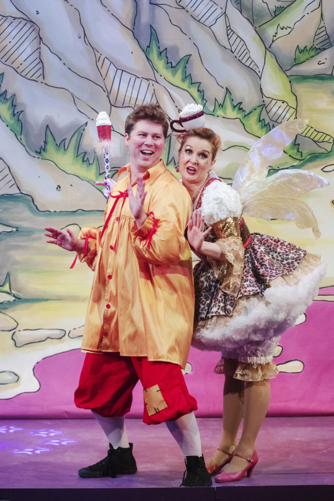 Actors on stage during Sleeping Beauty at the Corn Exchange Newbury