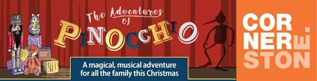 Pinocchio banner from Cornerstone Arts Centre