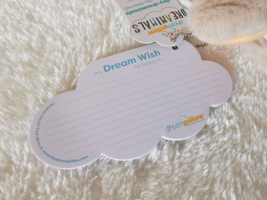 Notepad attached to dreamimal keyring