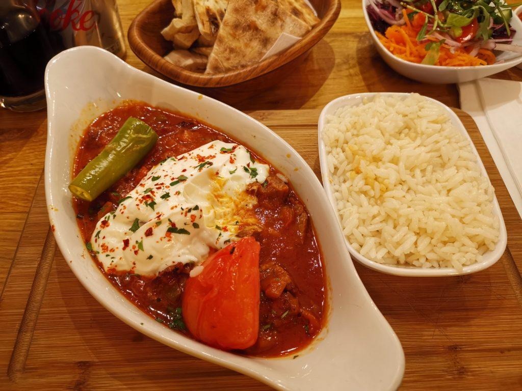 bowls of food at Zigana