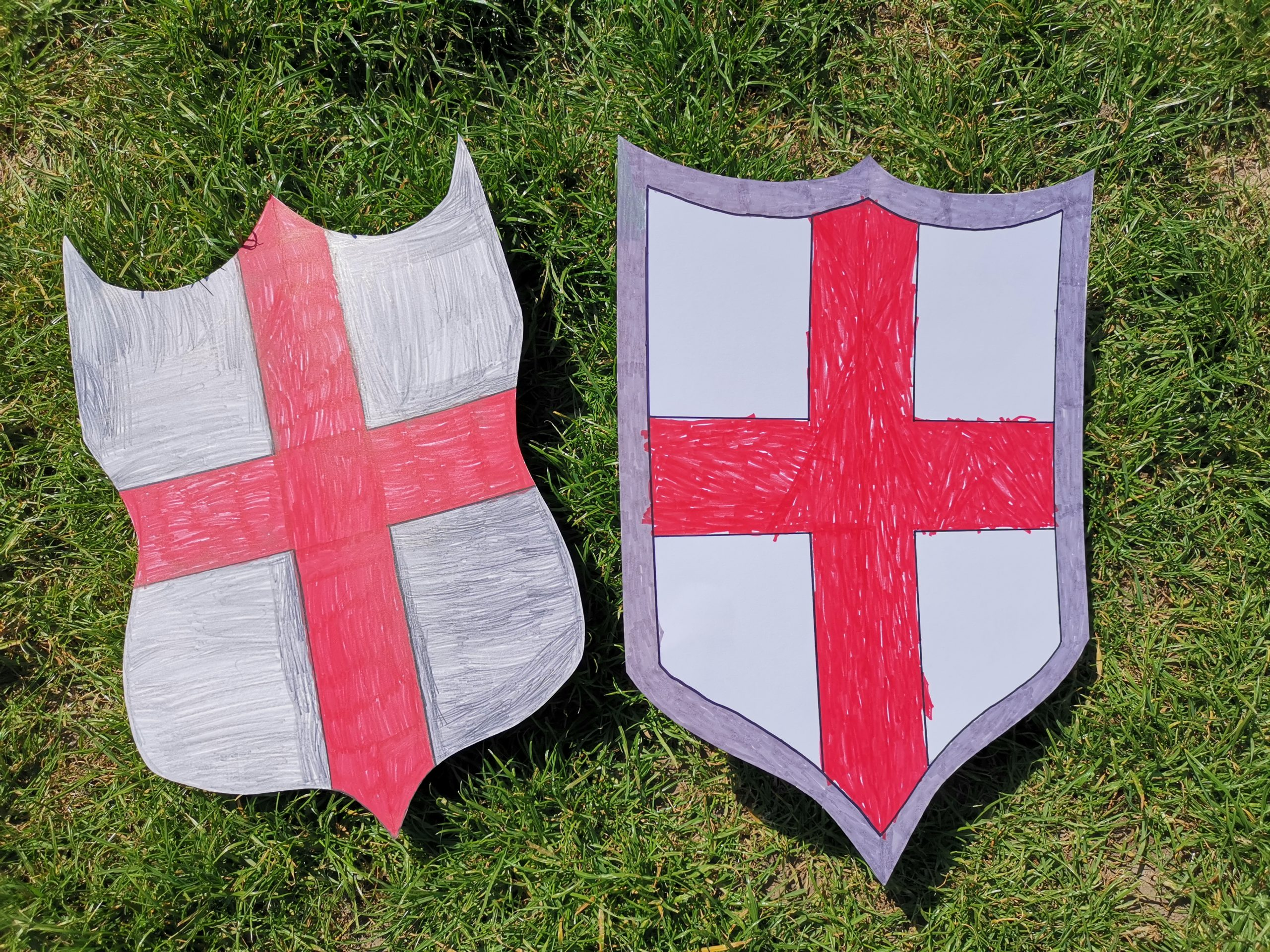 2 card st georges day shields