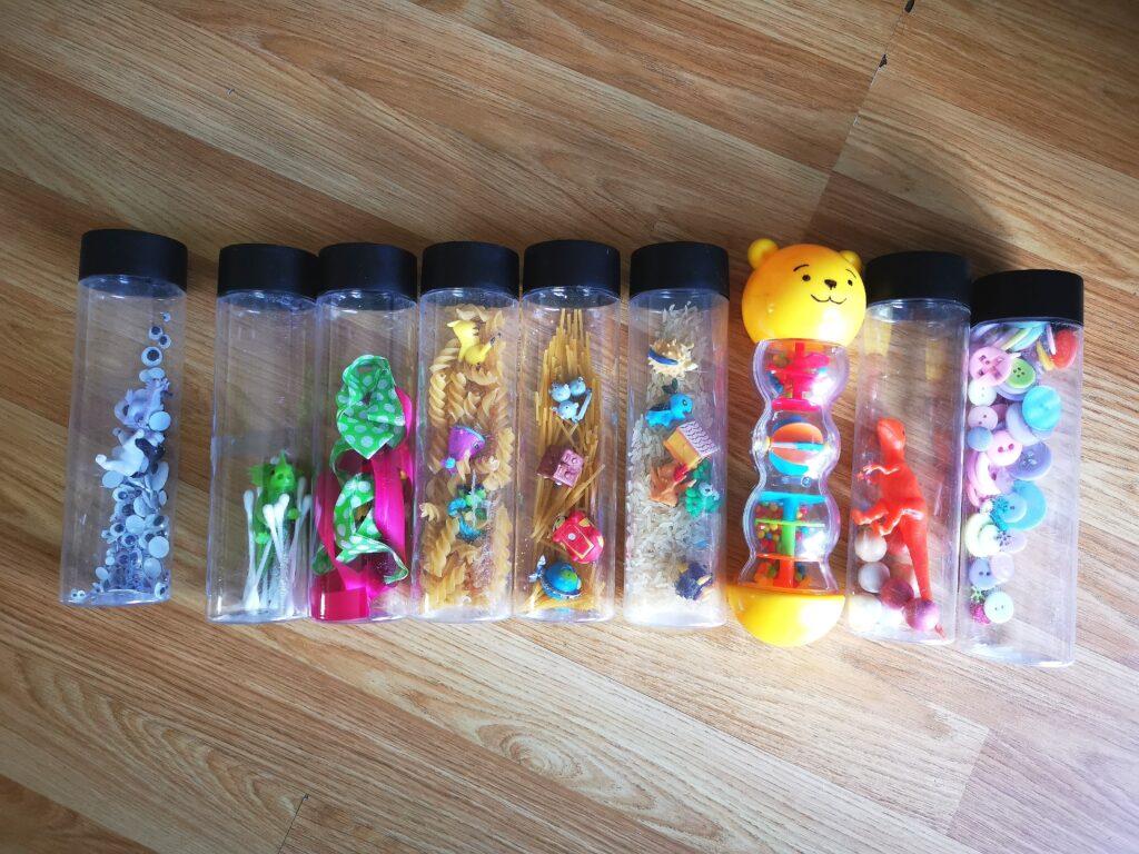 Sensory play tube shakers