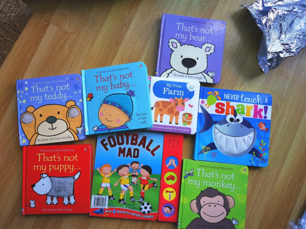 Sensory touch and feel and noisy books