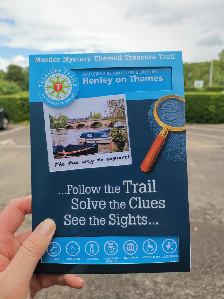 front sleeve of henley treasure trail booklet