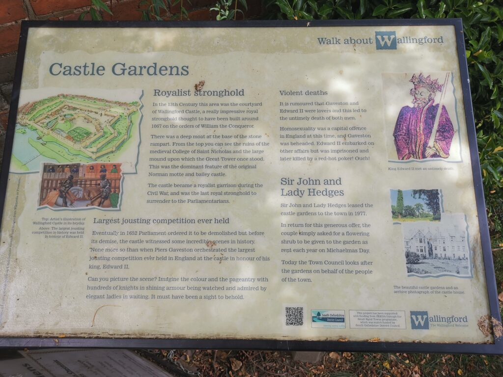 Wallingford Castle information board