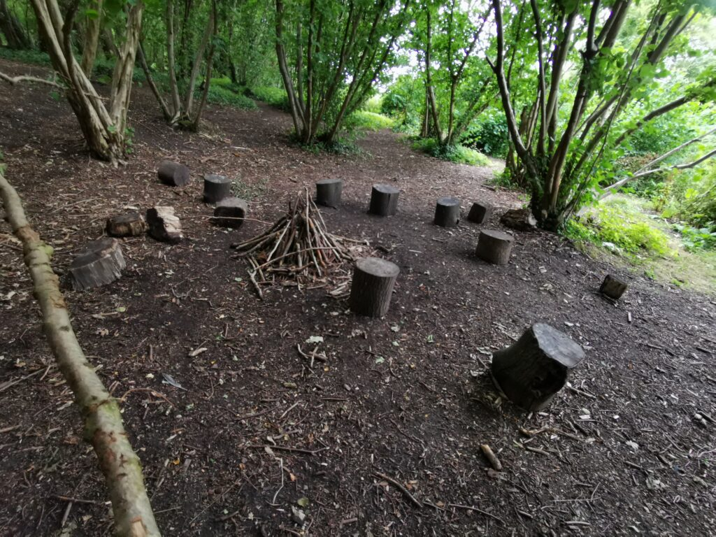 Role play campfire in Steventon copse