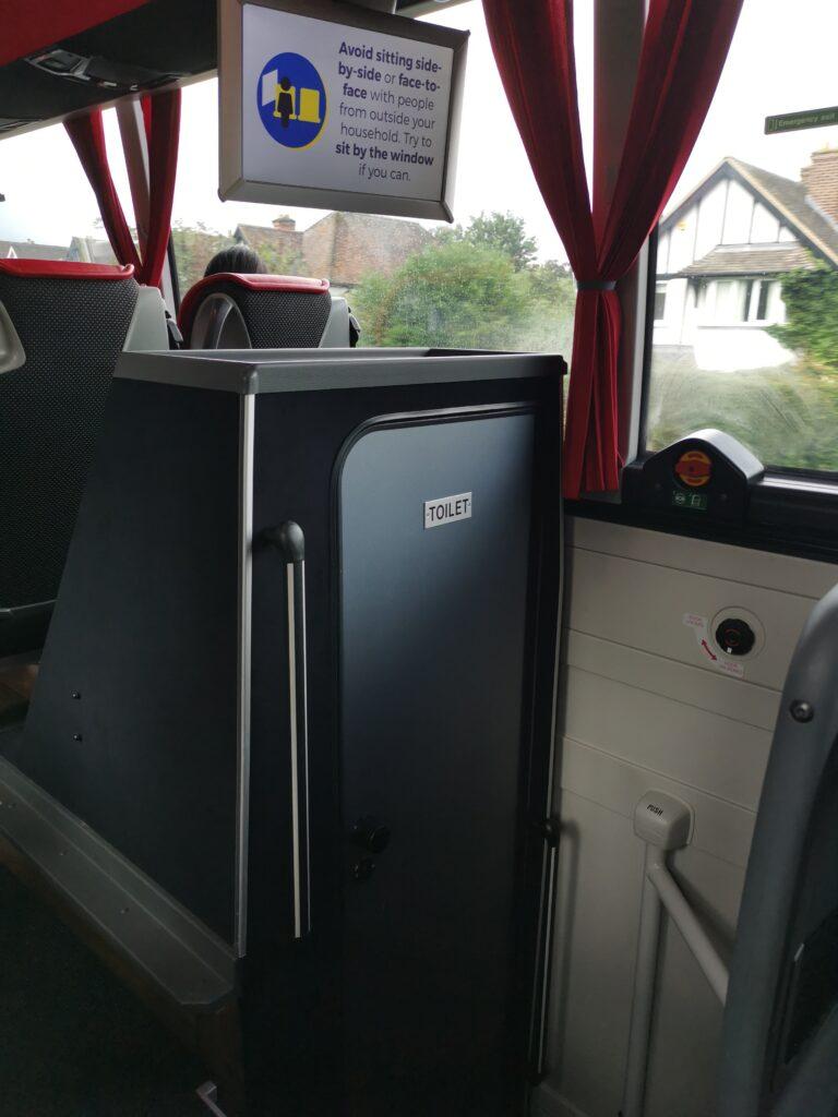 toilet on the coach