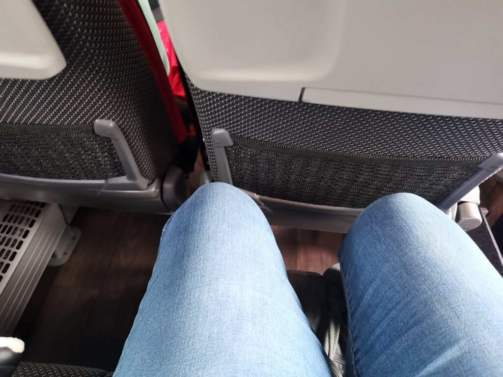 leg room on coach