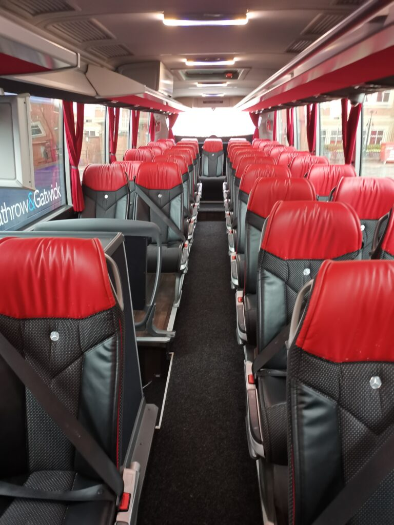 passenger seats onboard The Airline
