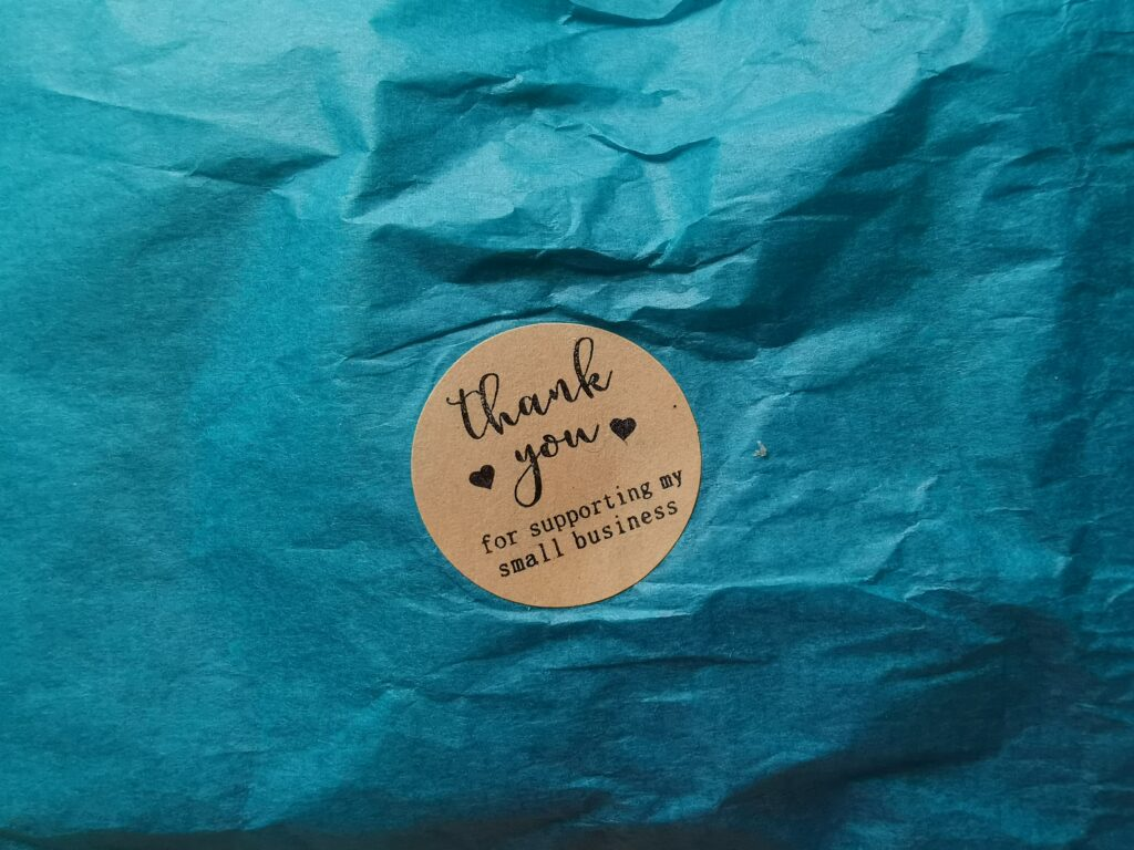 thank you for supporting my small business sticker