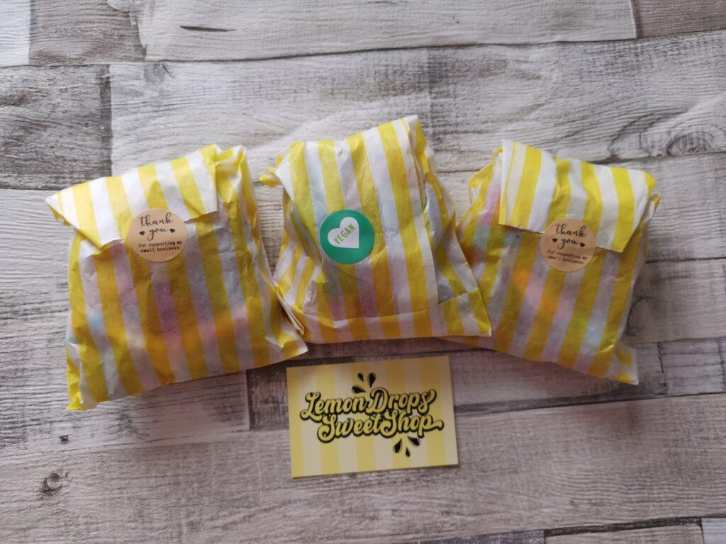 Lemon Drops Sweet Shop party bags