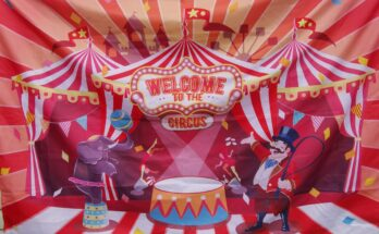 circus banner for carnival theme party