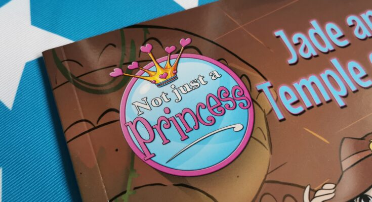 Not Just A Princess logo on corner of book