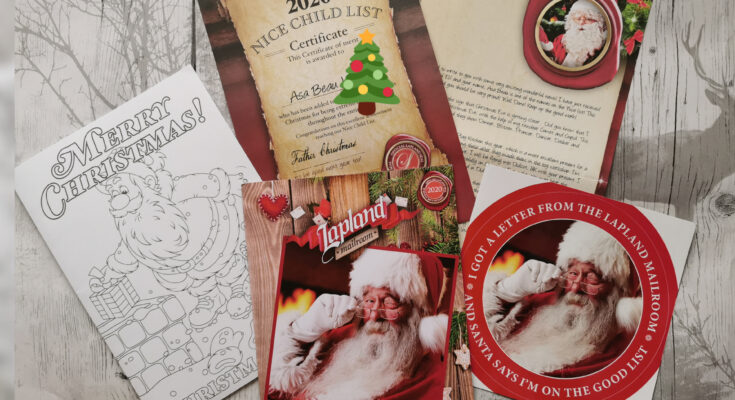 Personalised Father Christmas letter pack