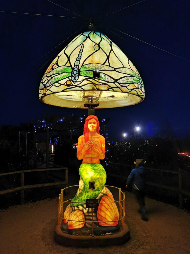 Singing illuminated mermaid