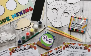 Woodland Letterbox Activity packs contents
