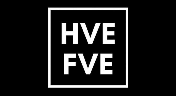 HVE FVE Black and white logo