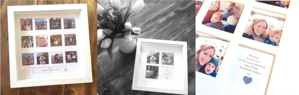 Personalised photo frames Mother's Day gifts
