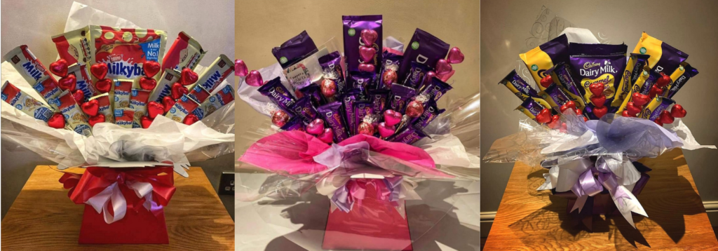 Chocolate bar bouquets for Mother's Day gifts