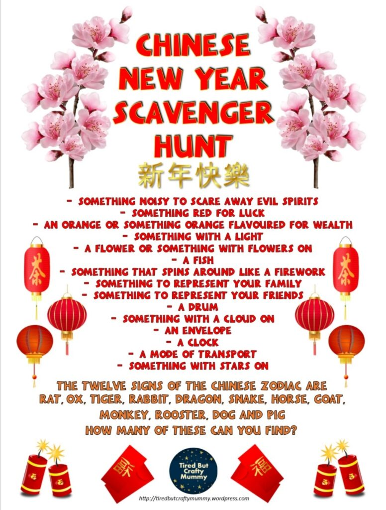 list of items to find for Chinese new year representing important symbols in Chinese culture