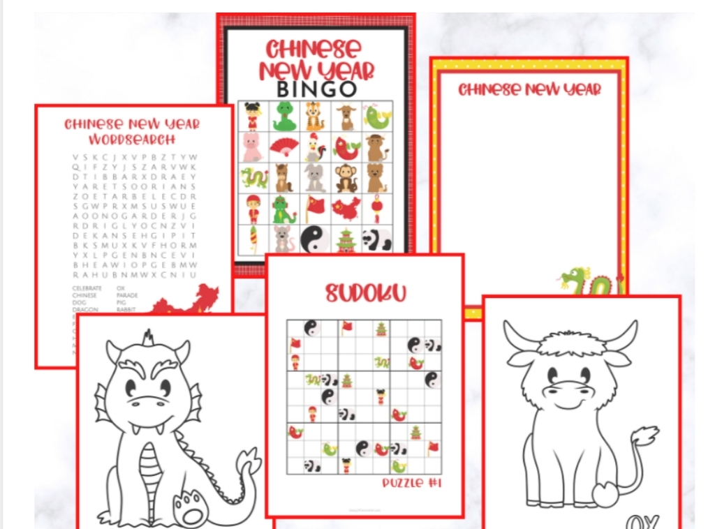 selection of children's colouring sheet templates