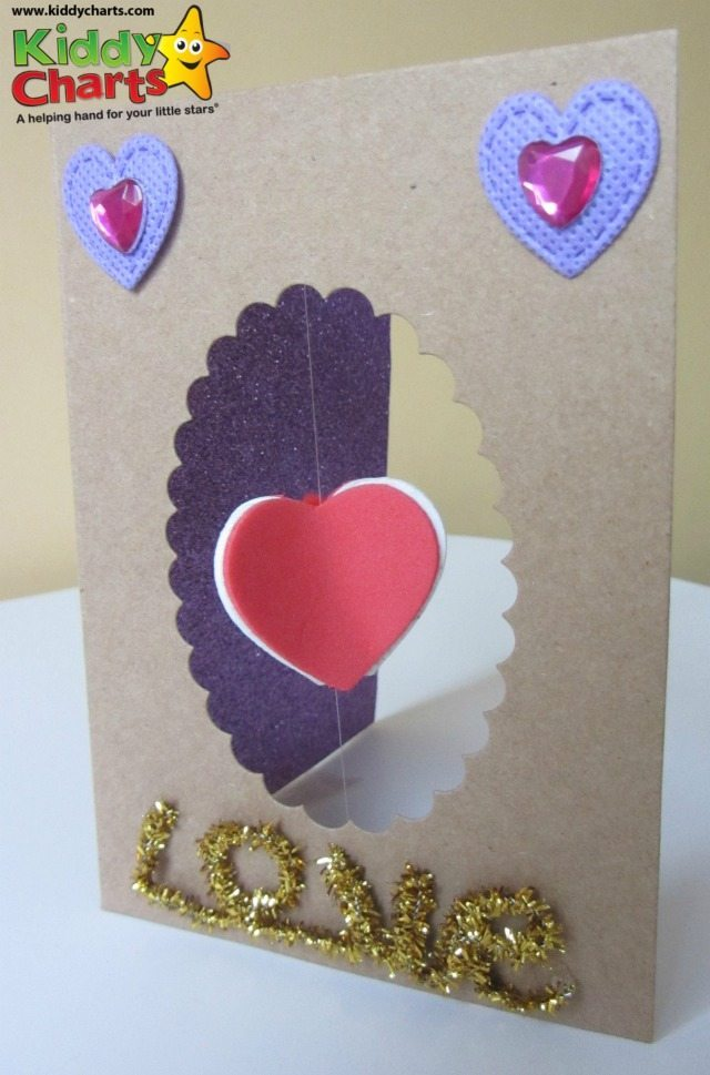 spinning heart card Valentine's day crafts