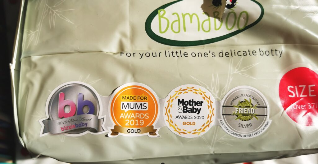 awards on nappy packaging